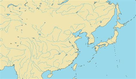 Asia Rivers Outline Map by Blank Map Directory China And Japan Alternatehistory Wiki