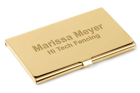 Brass Business Card Holder