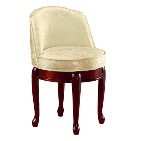Swivel Vanity Stool Home Decorators Collection Delmar Ivory Damask Swivel Vanity Stool 5544410420 The Home Depot
