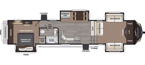 montana 5th wheel floor plans 2017 keystone montana high country 375fl cing world