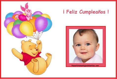imagenes de feliz cumpleaños winnie pooh fotomontaje de feliz cumplea 241 os con pooh fotomontajes
