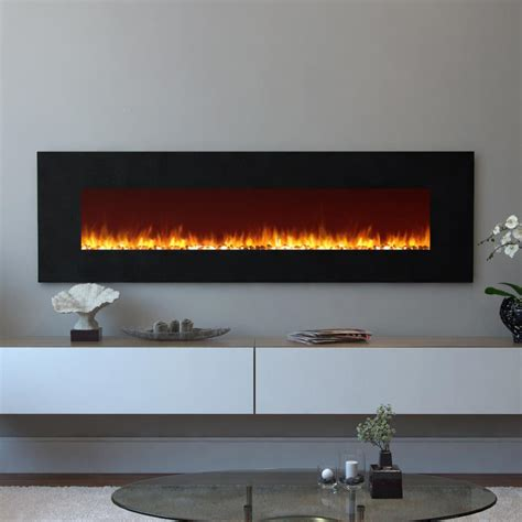 hanging wall fireplace real frederick 72 in entertainment center ventless
