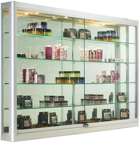 wall display cabinets for sale silver wall mounting cabinet 5 foot wide glass display