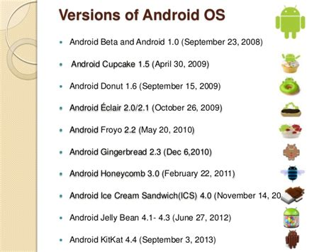 list of android versions android operating system names list pictures to pin on pinsdaddy