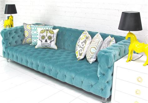 Aqua Tufted Sofa Teal Color Sofa For Colored Sofas Urban Aqua Tufted Sofa