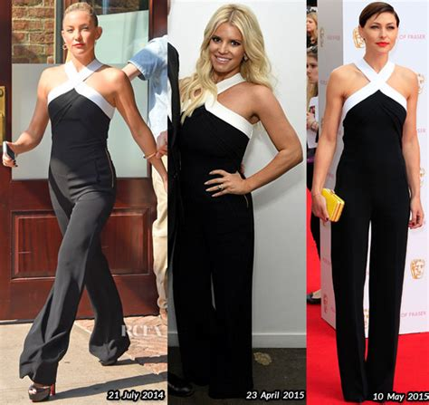 Who Wore Better Beckham Or Kate Hudson by Who Wore Roland Mouret Better Kate Hudson