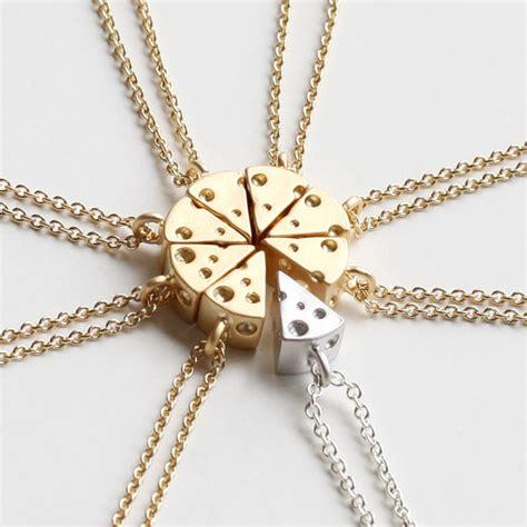 cheese necklace friendship necklace best friends necklace