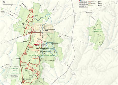 gettysburg map map of gettysburg national park gettysburg battlefield map