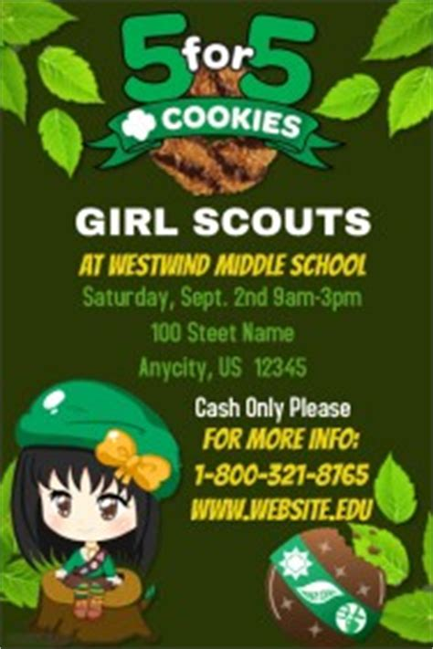 Scouts Poster Templates Postermywall Cookie Flyer Template