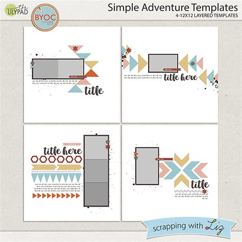 Digital Scrapbook Template Simple Adventure Scrapping With Liz Simple Store Template