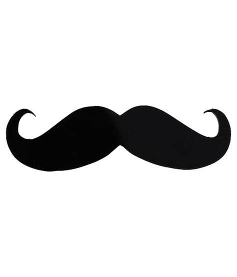 Bike 3d Sticker by Outdazzle Acrylic 3d Moustache Sticker For Car Bike Black