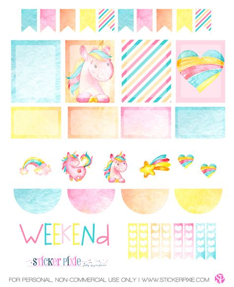 free printable unicorn tags free printable unicorn planner stickers from sticker pixie