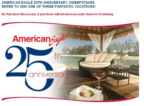 American Airlines Anniversary Giveaway - american eagle 25th anniversary sweepstakes