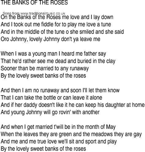 banks lyrics song and ballad lyrics for banks of the roses