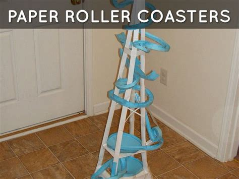 How To Make A Paper Roller Coaster - paper roller coasters marble run roller