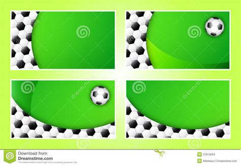 soccer id cards templates soccer business card background template stock vector
