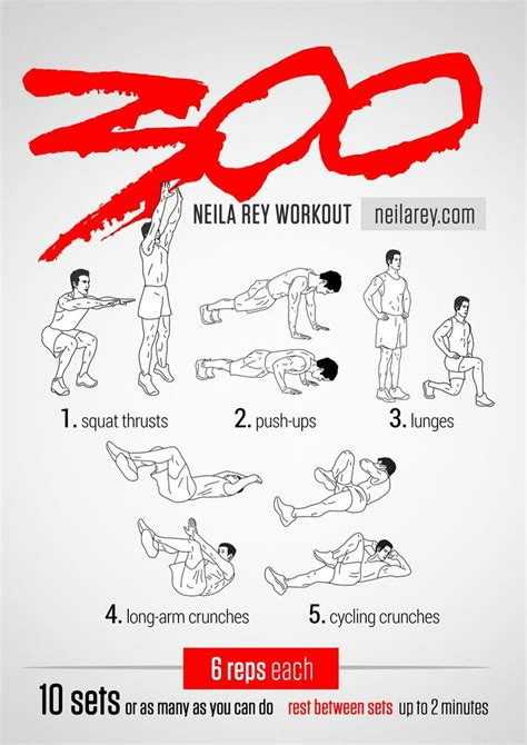 300 workout 2014 revised works quads chest triceps