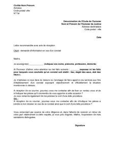 Exemple De Lettre De Demande De Jugement Modele Lettre Huissier Document