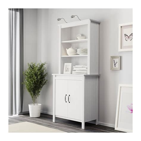 Armoire With Shelves by Brusali High Cabinet With Door White 80x190 Cm