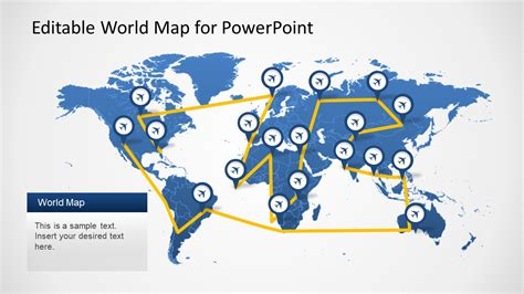 editable world map powerpoint template 28 images 3d world map
