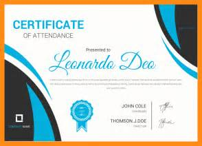 Certification Letter Of Attendance 4 Certificate Of Attendance Actor Resumed