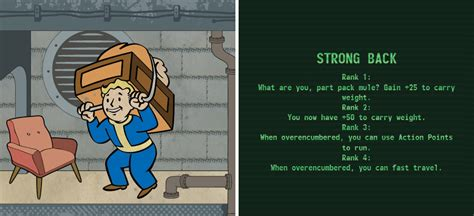fallout 4 weight management fallout 4 strength perks character creation introduction