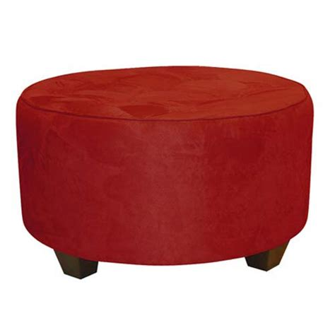 tufted round cocktail ottoman premier red tufted round cocktail ottoman skyline