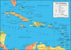 Caribbeans Map by Antigua Pier Group