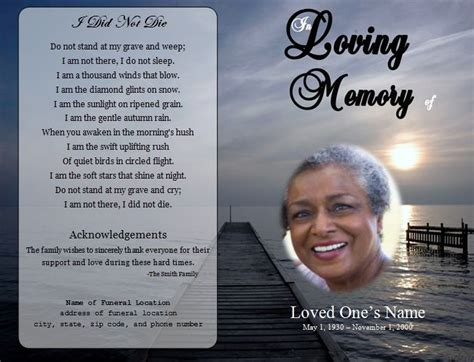 Obituary Card Template by 73 Best Printable Funeral Program Templates Images On