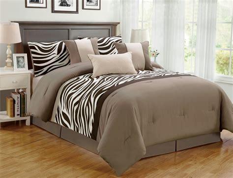 pieces comforter set bed bag oversize zebra animal jungle print bedding king ebay
