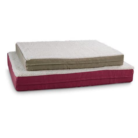 fleece dog bed fleece ortho pet bed 180150 kennels beds at sportsman
