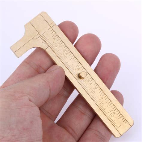 Scale Metal Brass Mini Sliding Measurement Tool For Pocket 80mm pocket 80mm 3 15 quot mini sliding diy vernier caliper metal brass sliding ruler micrometer