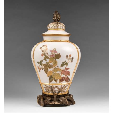 Royal Worcester Vases For Sale by Large Royal Worcester Japanese Aesthetic Movement Vase
