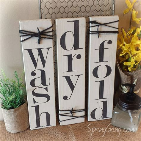 Laundry Room Signs Decor Laundry Room Decor Signs Set Of 3 Rustic Pallet Signs Wood