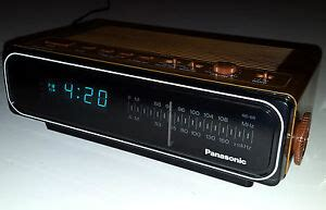 vintage panasonic alarm clock radio rc 66 fluorescent blue digital ebay