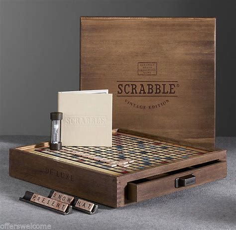 scrabble premier wood edition vintage wooden boxes wooden boxes and scrabble on