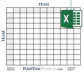 Super Bowl Squares Template Excel