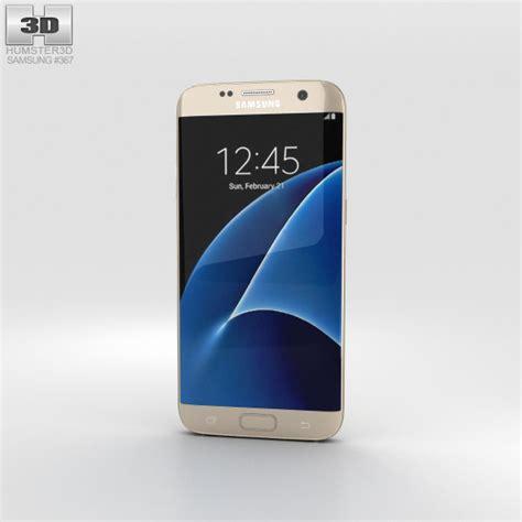 Samsung S7 Edge Gold samsung galaxy s7 edge gold 3d model humster3d