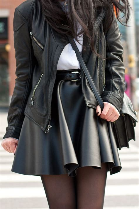 leather skirt my style