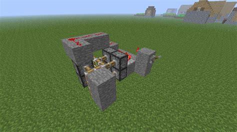 hidden piston door minecraft project