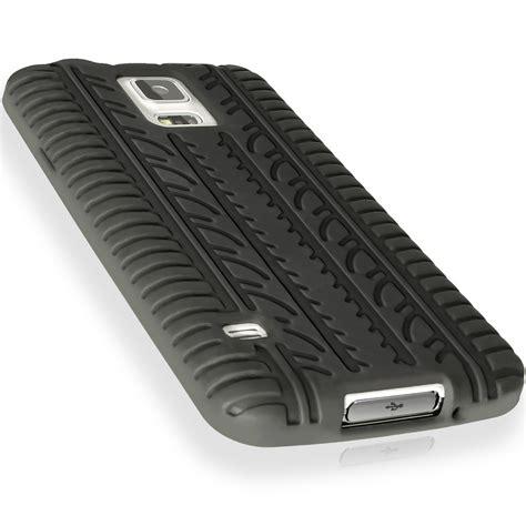 Casing Samsung Galaxy S5 G900h Fullset igadgitz black tyre skin silicone cover for samsung galaxy s5 sv sm g900 sm g900f sm g900h