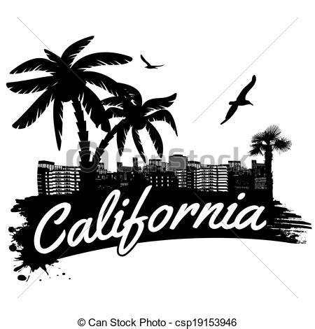 Wall Word Art Stickers vecteur eps de affiche californie californie dans
