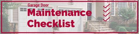 garage door maintenance checklist quality overhead door