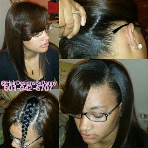 men sew ins partial sew in dannyaskiahairdesign pinterest sew