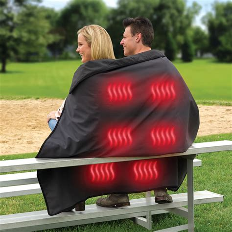 Portable Heated Stadium Blanket by Cordless Heated Stadium Blanket The Green