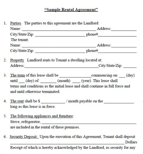 lease agreement luxury basic rental agreement for residential lease