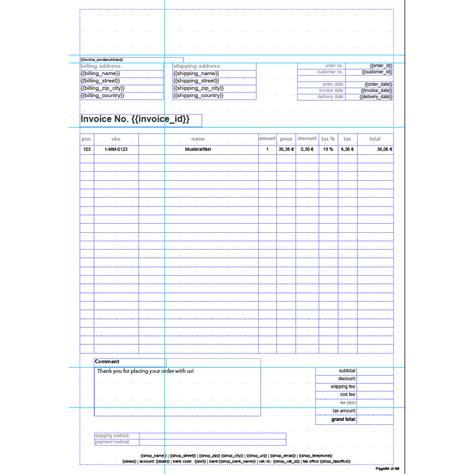 template invoice english invoice pdf pro standard invoice template english