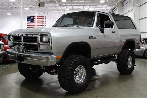 silver 1991 dodge ramcharger for sale mcg marketplace