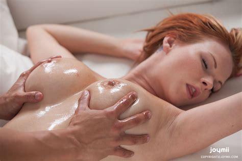 Wallpaper Boobs Massage Tits Boobs Big Tits Redhead Piercing Oiled Desktop Wallpaper