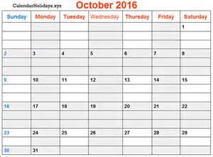 Printable Calendar Pdf 2016 Quot Pdf October 2016 Calendar Printable Template